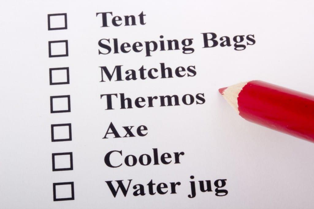 Camping Checklist Image