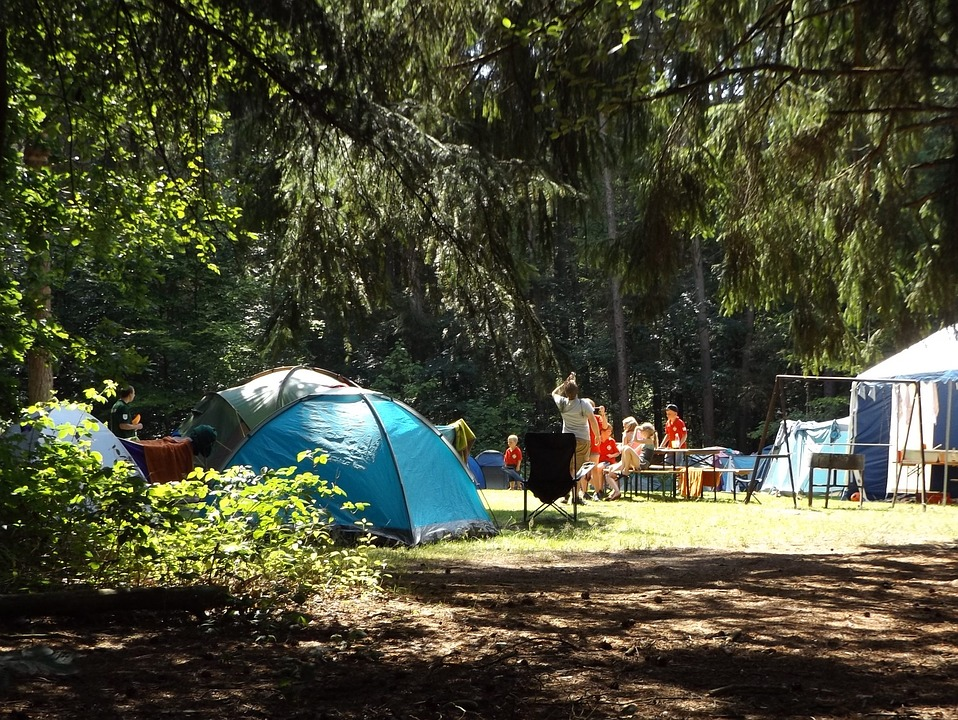 Camping with children - find the right spot